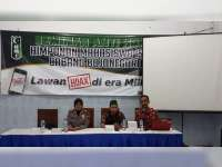 HMI Bojonegoro Gelar Seminar Lawan Hoax di Era Millenial