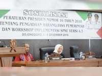 Pemkab Bojonegoro Gelar Sosialisasi Perpres, Pengadaan Barang dan Jasa Pemerintah