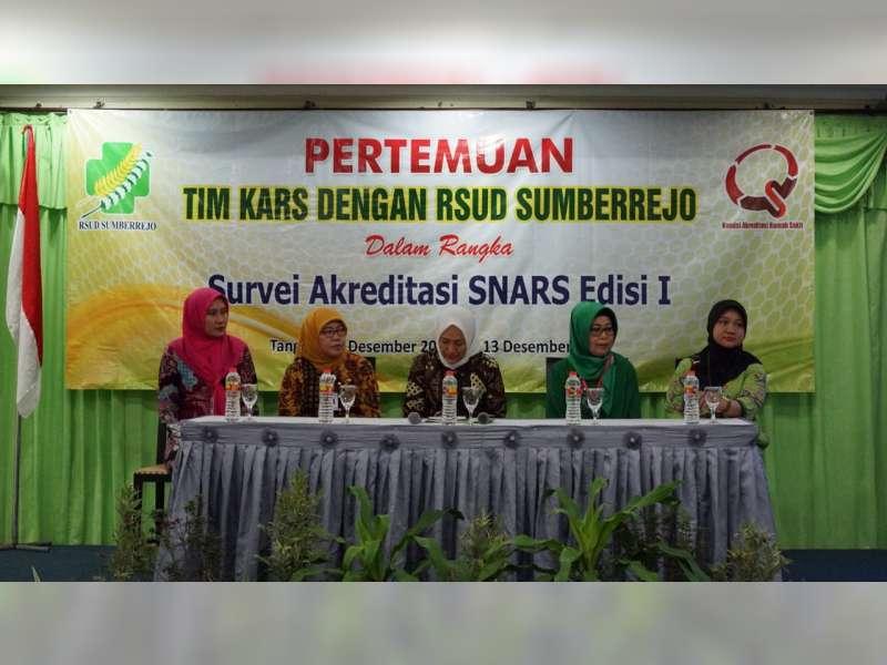 RSUD Sumberrejo Jalani Survey Akreditasi SNARS
