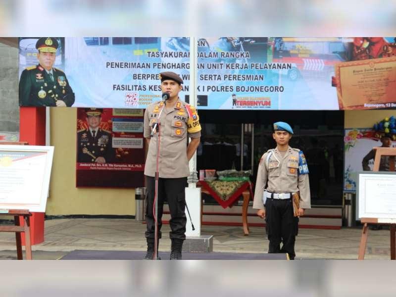 Raih Predikat WBK dari Kementerian PAN-RB, Polres Bojonegoro Gelar Tasyakuran