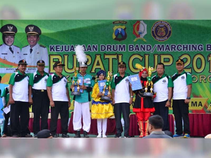 Wakapolres dan Wabup Bojonegoro Hadiri Penutupan Kejuaraan Drum Band Bupati Cup 2018