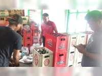 Polisi di Bojonegoro Amankan Ratusan Botol Minuman Keras