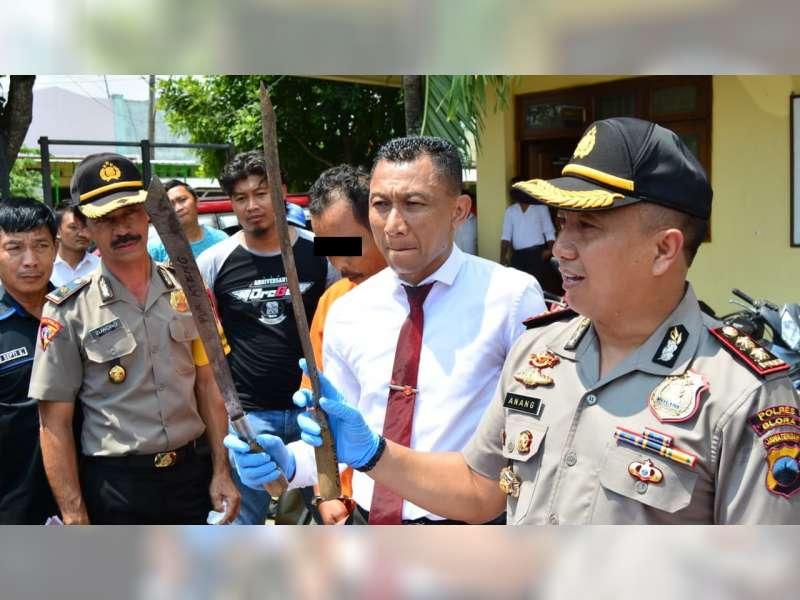 Polres Blora Tangkap Seorang Pelaku Pencurian dan Penusukan Petugas Polhut