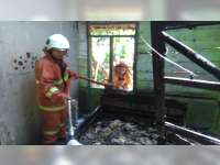 Diduga Akibat Obat Nyamuk, Rumah Warga Kedungadem Bojonegoro Terbakar