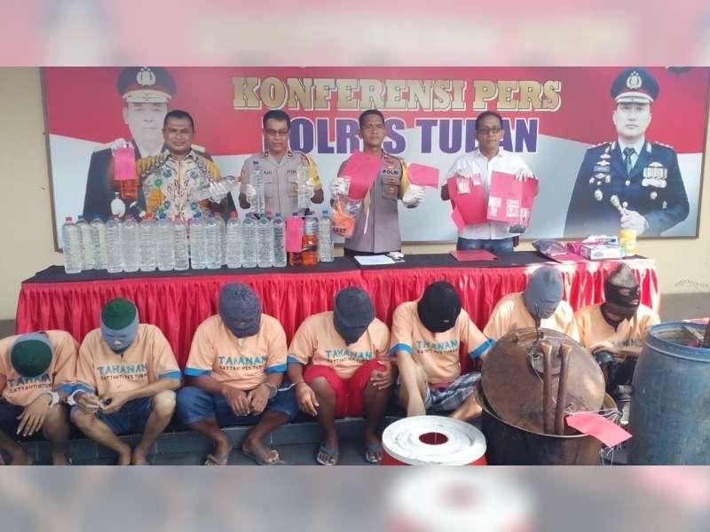 Operasi Tumpas Narkoba, Polres Tuban Tangkap 6 Orang Tersangka