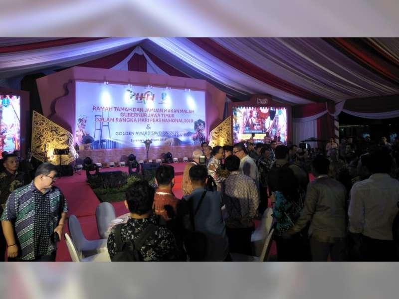 Bupati Bojonegoro Hadiri Gala Dinner HPN 2019, di Gedung Grahadi Surabaya