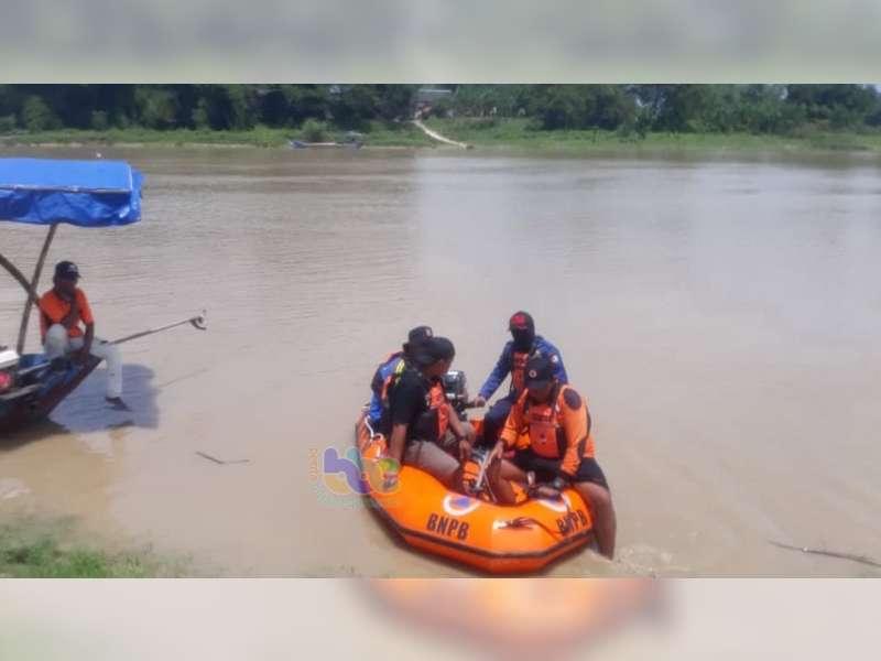 Warga Kanor Bojonegoro yang Tenggelam di Bengawan Solo Belum Ditemukan