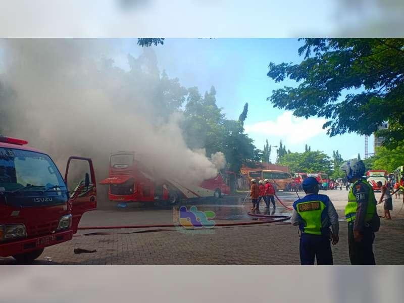 Kebakaran Bus Agra Mas di Terminal Bojonegoro Diduga Akibat Korsleting Instalasi AC