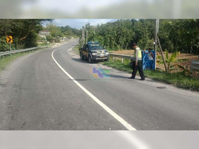 Ditabrak Bus, Pemotor di Margomulyo Bojonegoro Luka Berat