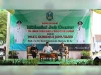 Kunjungi SMK 5 Bojonegoro, Wagub Jatim Sosialisasi Millenial Job Center