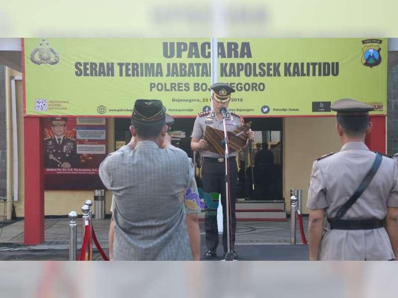 Kapolres Bojonegoro Pimpin Serah Terima Jabatan Kapolsek Kalitidu