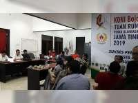 Ketua KONI Bojonegoro Terpilih, Gelar Rapat Perdana Dengan Pengurus Baru
