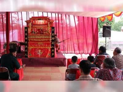 Yayasan Kelenteng Hok Tik Bio Blora Gelar Pertunjukan Wayang Potehi