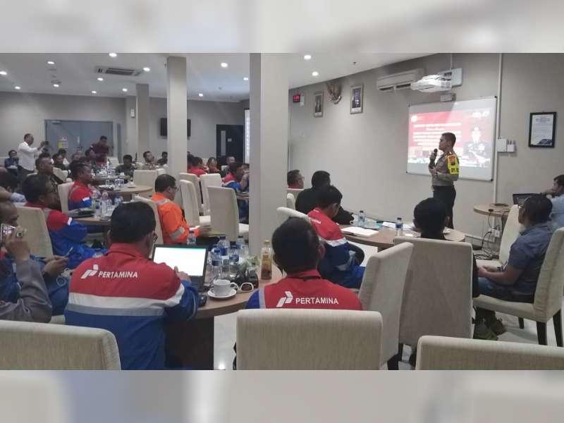 Pertamina EP Cepu Gelar Rakor Pengamanan Obvitnas Proyek JTB Bersama TNI dan Polri