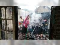 Diduga Akibat Korsleting Listrik, Rumah Milik Warga Trucuk Bojonegoro Ludes Terbakar