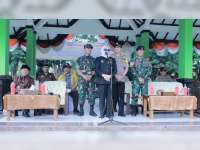 Bupati Bojonegoro Pimpin Apel dan Simulasi Sispamkota, Pengamanan Pemilu 2019