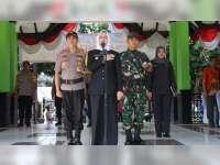 Bupati Bojonegoro Pimpin Apel Gelar Pasukan, Kesiapan Pengamanan Pemilu 2019