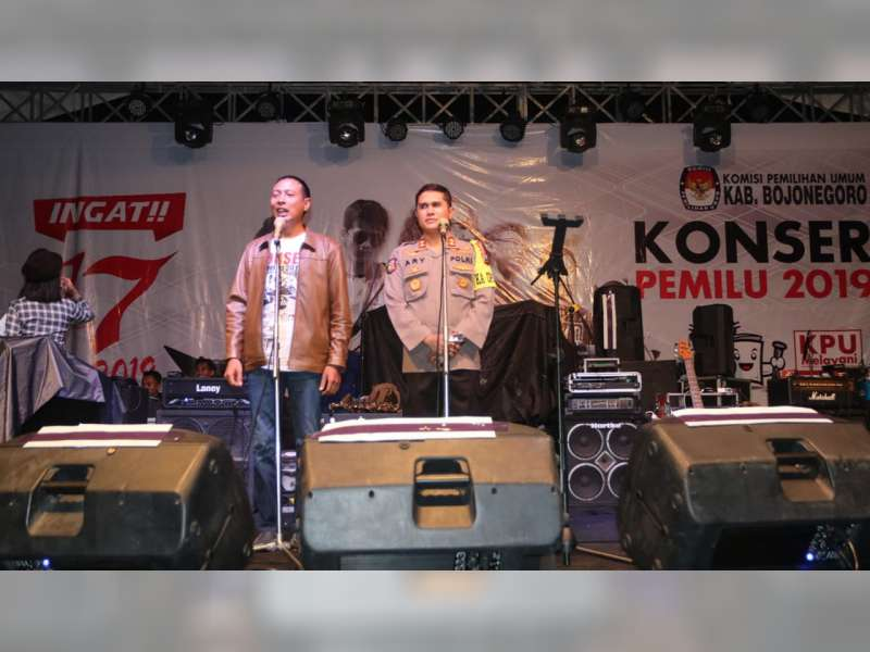 Hadiri Konser Pemilu, Kapolres Bojonegoro Ajak Masyarakat Jaga Keamanan Wilayah