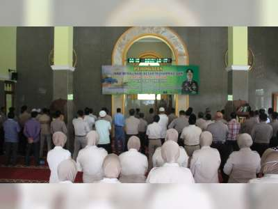 Tingkatkan Keimanan Anggota, Polres Bojonegoro Gelar Peringatan Isra Mikraj