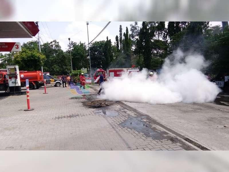 Usai Isi BBM di SPBU, Sepeda Motor Milik Warga Purwosari Bojonegoro Hangus Terbakar