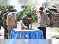 Danjen Akademi TNI Resmikan Tugu Integrasi Latsitardanus di Bubulan Bojonegoro
