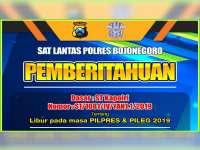 Layanan Penerbitan SIM di Polres Bojonegoro, Libur saat Pencoblosan Pemilu 2019