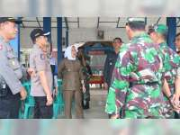 Kapolres, Bupati dan Dandim Bojonegoro Lakukan Pengecekan Sejumlah TPS