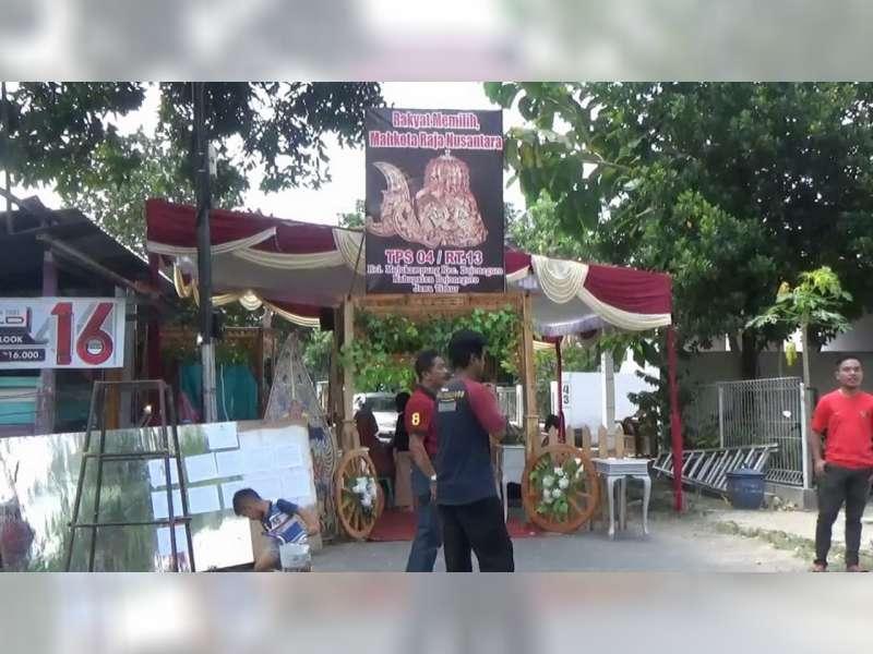 """TPS Unik di Bojonegoro Dengan Tema """"Rakyat Memilih Mahkota Raja Nusantara"""""""