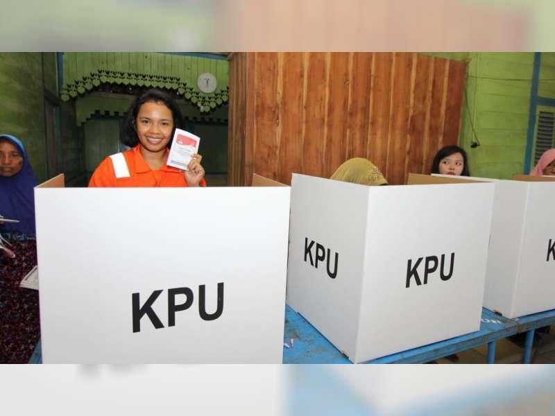 Pekerja Migas di Bojonegoro Antusias Salurkan Hak Pilihnya Dalam Pemilu 2019