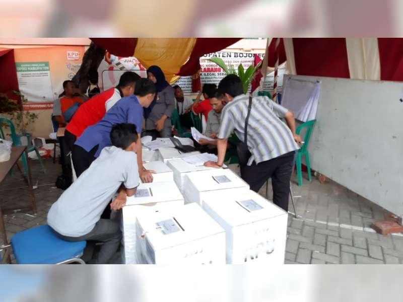 22 PPK di Bojonegoro Telah Selesaikan Rekapitulasi Penghitungan Suara Pemilu 2019