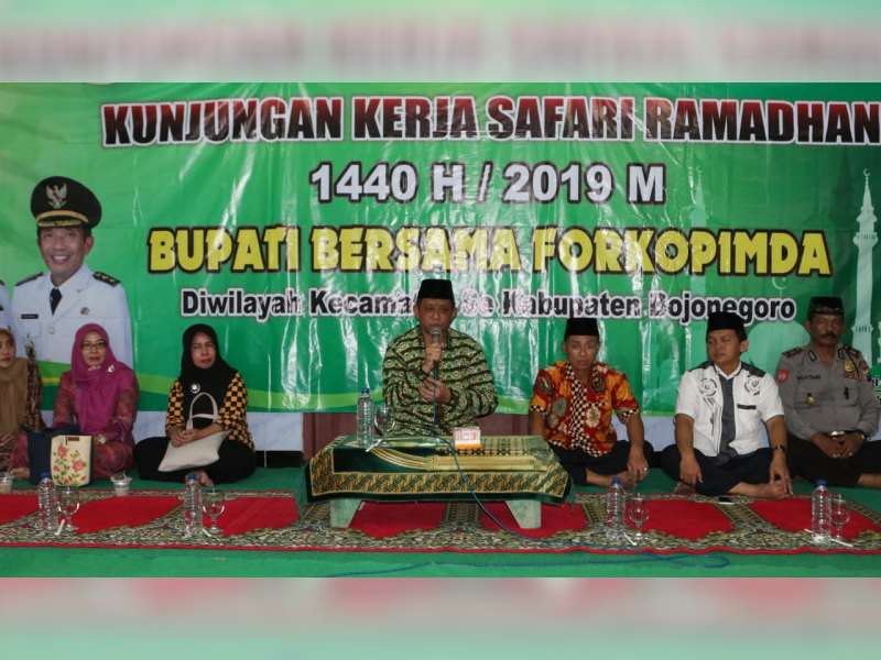 Safari Ramadan di Kapas, Pj Sekda Bojonegoro Ajak Masyarakat Jaga Kamtibmas