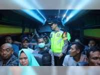 Kapolres Bojonegoro Pimpin Razia Kendaraan, Cegah Mobilisasi Massa People Power