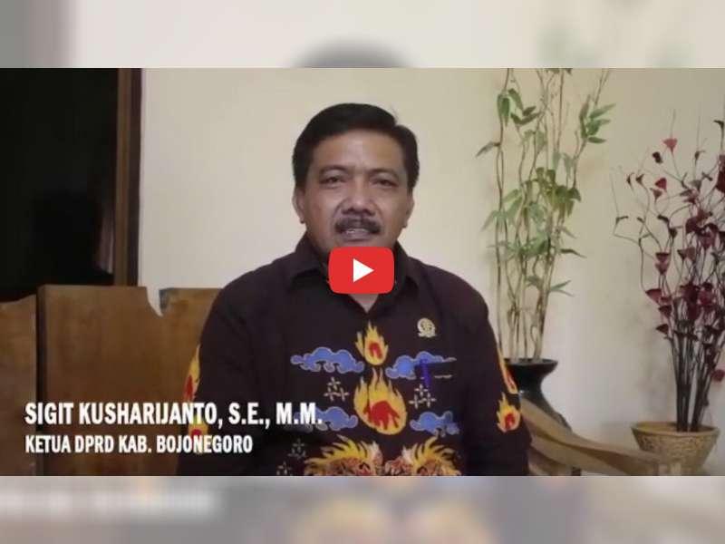 Ketua DPRD Bojonegoro Sampaikan Ucapan Selamat Kepada Jokowi - Makruf Amin