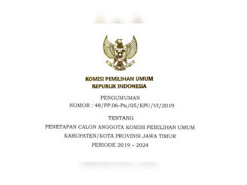 Inilah 5 Anggota Komisioner KPU Kabupaten Bojonegoro, Periode 2019 -2024