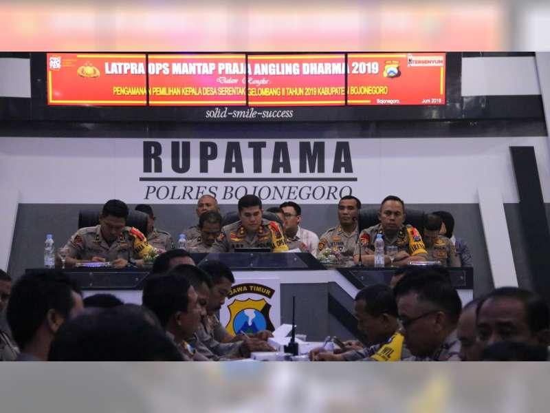 Polres Bojonegoro Gelar Lat Pra Ops Mantap Praja Angling Dharma 2019, Pengamanan Pilkades