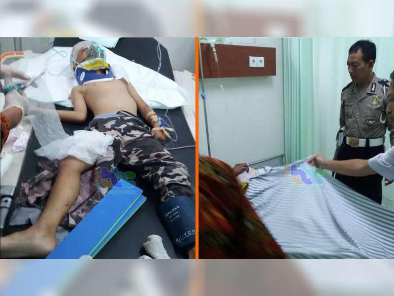 Tabrak Truk Tronton, 2 Orang Pemotor di Padangan Bojonegoro, Luka Berat