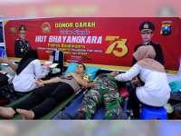 Peringati Hari Bhayangkara, Polres Bojonegoro Gelar Bakti Sosial Donor Darah