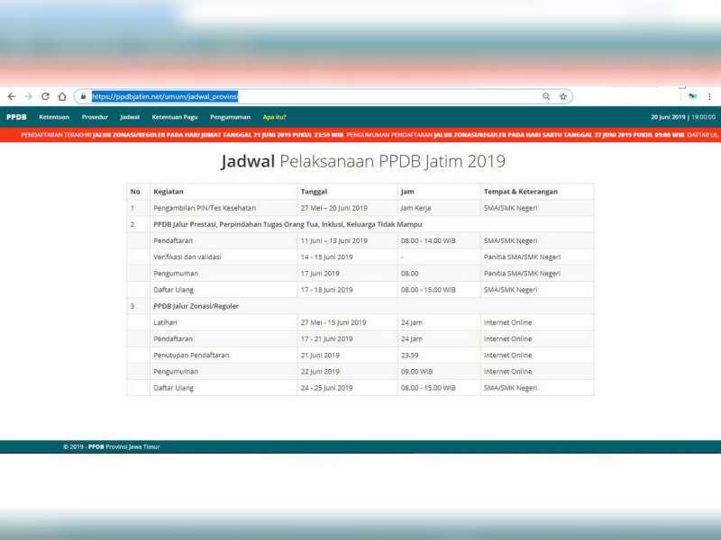 Penutupan Pendaftaran PPDB Online Jenjang SMA dan SMK Provinsi Jawa Timur, Diundur!