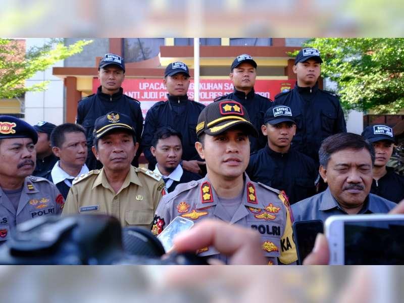 Polres Bojonegoro Akan Tindak Para Pelaku Perjudian dalam Pilkades Serentak