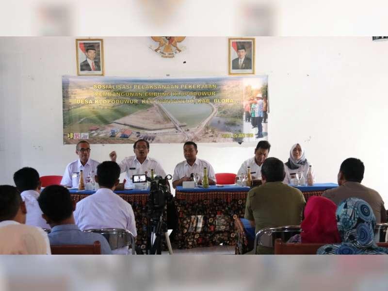 Bupati Blora Hadiri Sosialisasi Pembangunan Embung Dung Sambi Klopoduwur