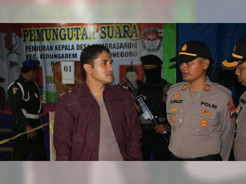 Cipta Kondisi Jelang Pilkades Serentak, Kapolres Bojonegoro Pimpin Patroli Skala Besar