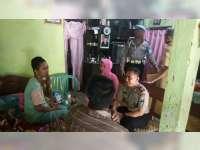 Bhakti Bhayangkara, Kapolsek Kalitidu Bojonegoro Kunjungi Korban Laka Lantas