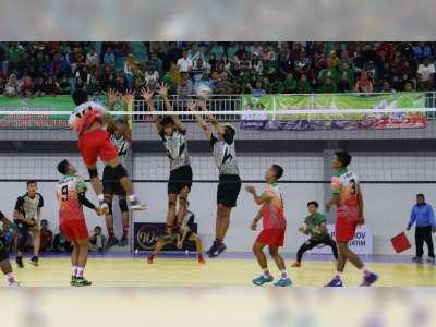 Foto-Foto Pertandingan Bola Voli Indoor Porprov Hari Kedua di GOR Dabonsia Bojonegoro