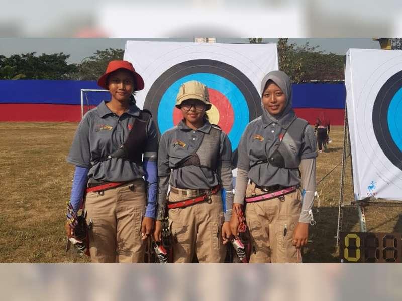 Atlet Panahan Kabupaten Bojonegoro Raih Emas Pertama, di Porprov Jatim 2019