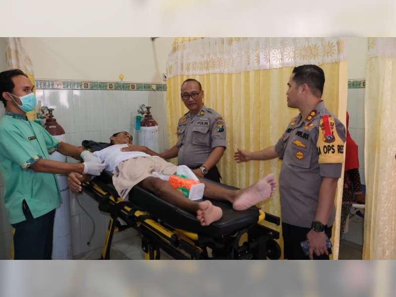 Kapolres Bojonegoro Bantu Pengobatan Warga Gondang di Rumah Sakit