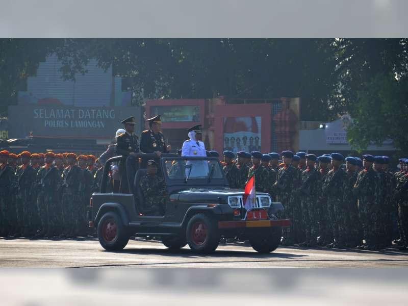 Forpimda Bojonegoro Hadiri Peringatan HUT Bhayangkara di Makodam V Brawijaya