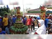 Kirab Ancak dan Kroyokan Meriahkan Tradisi Sedekah Bumi Desa Bogorejo Blora