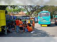 Ratusan Suporter Beri Dukungan Laga Perdana Persibo Bojonegoro Vs PSM Madiun