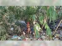 Tumpukan Sampah dan Rumpun Bambu di Kedungadem Bojonegoro Terbakar