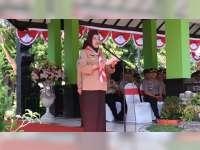 Bupati Pimpin Apel Besar Peringatan Hari Pramuka di Alun-Alun Bojonegoro